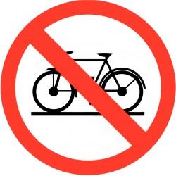 Verboden voor fietsen