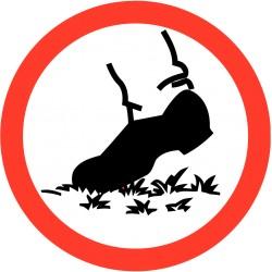 Verboden het gras te betreden