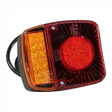 Achterlicht LED 12V - 24V  (links & rechts toepasbaar)