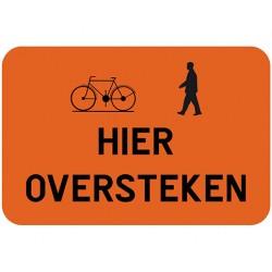 fiets en voetganger